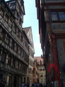 In der Altstadt von Tübingen sind noch viele Fachwerkhäuser zu finden