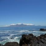 Tafelberg von Robben Island aus gesehen