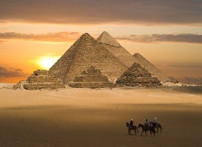 Pyramiden auf einer Ägypten Reise