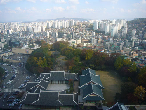 Panorama von Südkoreas Haupstadt Seoul