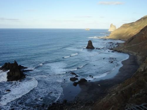 Schöner Strand auf Teneriffa: Benijo