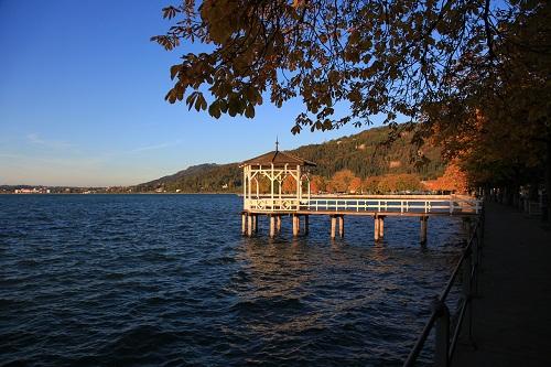 Seebrücke in Bregenz am Bodensee