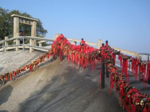 Der heilige Hua Shan in China