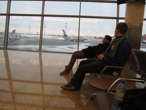 Flughafen in Moskau
