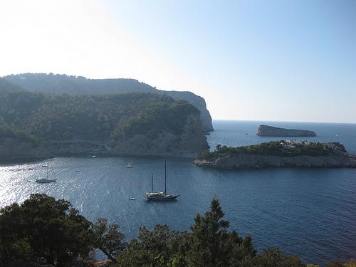 Ibiza Szenerie am Mittelmeer