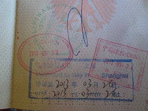 Visum für Shanghai