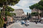 Rom mit Colosseum - praktisch keine Radwege in Italien