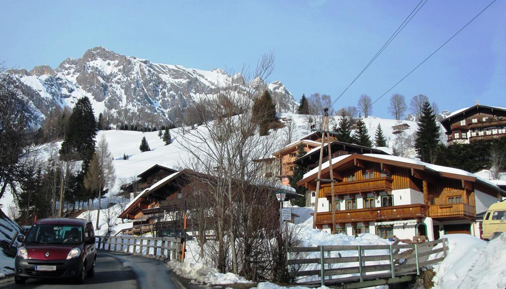 Auf dem Weg nach Maria Alm in der Skiwelt Amade