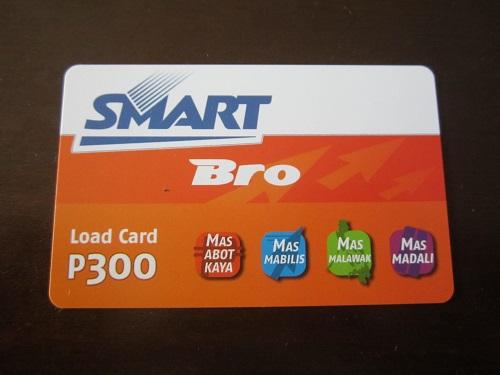 Smart Bro 300 Peso für das Telefonieren und Internetsurfen auf den Philippinen