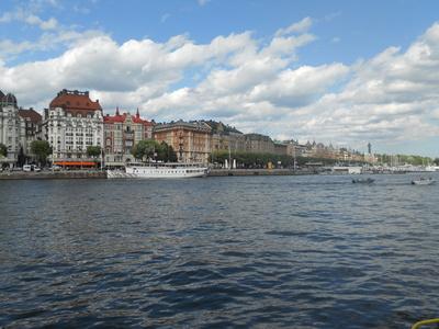 Stockholm bei Schiff © UnbekannTe / pixelio.de