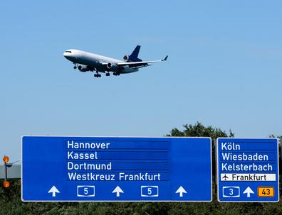 Anflug auf den Flughafen Frankfurt - Main