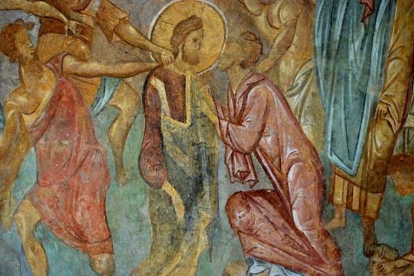 Felskirchen Ivanovo - Wandmalereien aus dem 13. Jahrhunder - Hohlen am Fluß Lom