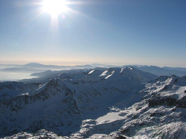 Nationalpark Pirin - höchster Gipfel: Wichren 2914 m - Prin-Gebirge im Winter
