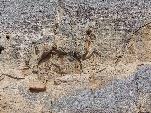 Reiter von Madara - bulgarischer Herrscher Khan Krum - Felsenrelief aus dem 8. Jahrhundert