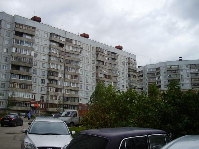 Typischer Plattenbau in Novosibirsk