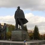 Ehren gehalten: Eine Statue des Revolutionärs Wladimir Iljitsch Lenin