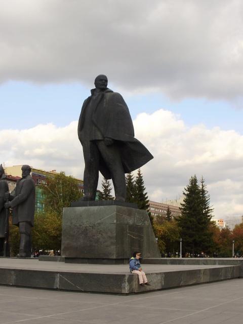 Die kommunistische Vergangenheit Russlands wird in Ehren gehalten: Eine Statue des Revolutionärs Wladimir Iljitsch Lenin