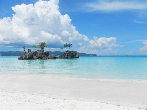 Reisen und Arbeiten am Strand