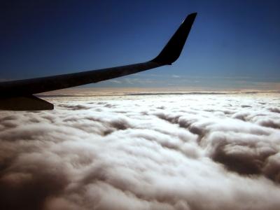 Flug über die Alpen - Bild: © Rainer Sturm / pixelio.de