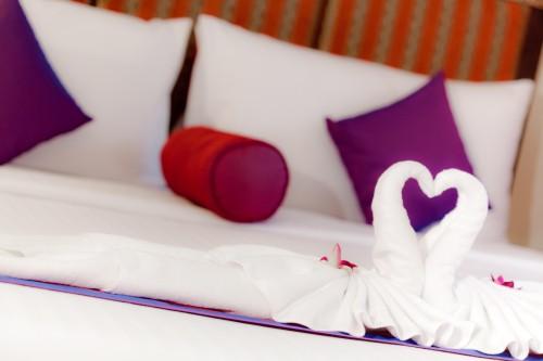 Luxus Suite mit Honeymoon Bett und Whirlpool für die Flitterwochen