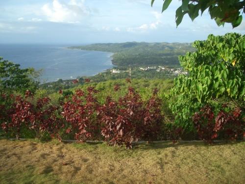 """Der herrliche Ausblick vom """"Triad Coffee"""" über die Bucht von Siquijor"""