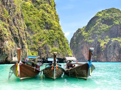 Longtail Boote, Touristische Attraktion in Thailand Foto: © R.M. Nunes - Fotolia.com