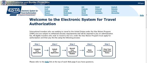 Electronic Travel Authorization System Usa