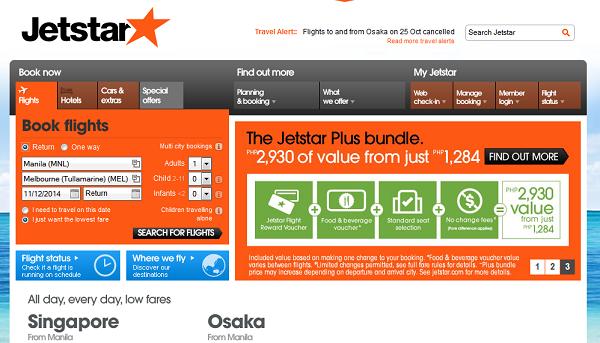 Jetstar Website