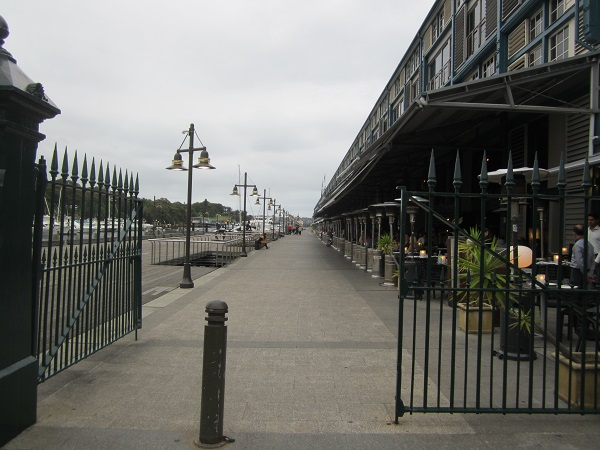Finger Wharf in der Wooloomooloo Bay