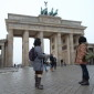 Das weltberühmte Brandenburger Tor in Berlin Mitte