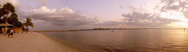 Sonnenuntergang, Cape Coral Beach